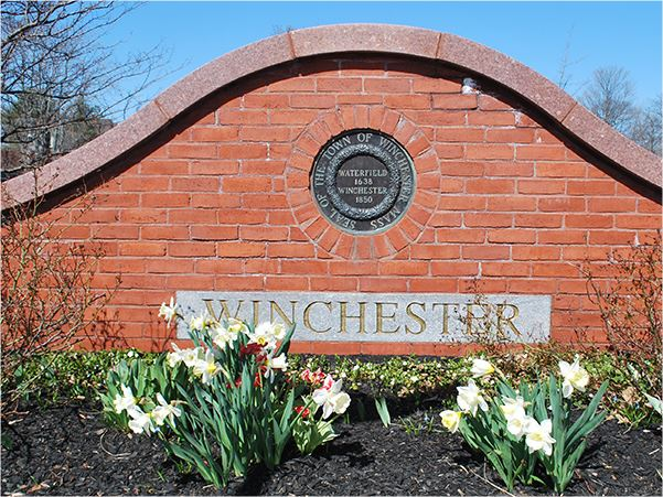 "Brick Sign Which Reads, ""Winchester"""