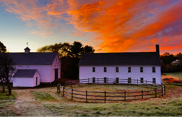 School House at Sunset